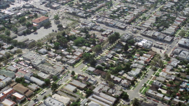 ws aerial high over hollywood street / los angeles, california, united states - 1982 stock videos & royalty-free footage