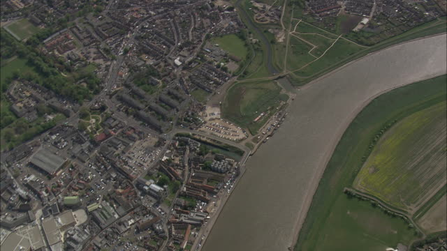 high over king's lynn - norfolk england stock videos & royalty-free footage