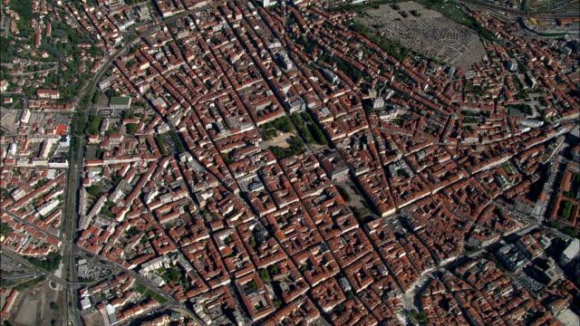 High Over Sant-Etienne  - Aerial View - Rhône-Alpes, Loire, Arrondissement de Saint-Étienne, France