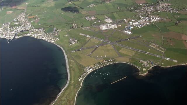 high over the isle of man  - aerial view -, isle of man - isle of man stock videos & royalty-free footage