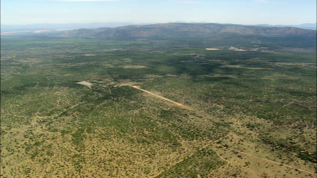 High Over the Open Veldt Nwc  - Aerial View - North-West,  Bojanala Platinum,  Local Municipality of Madibeng,  South Africa