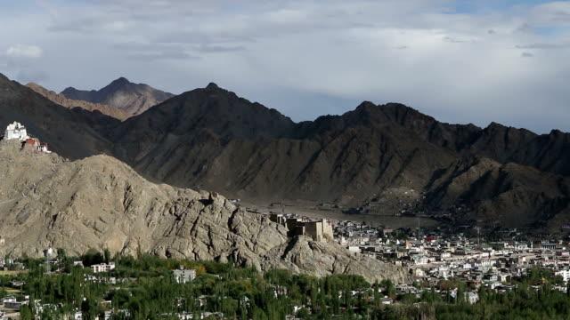 HD: High Pan over Indian town of Leh