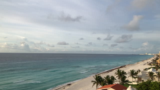 High point of view of beach and hotels
