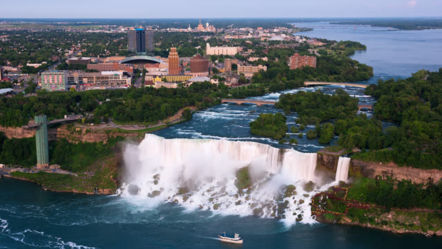 T/L High Point of View of the American Falls / Niagara Falls, New York, USA