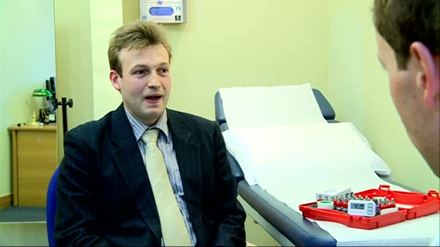 high proportion of londoners suffer from hay fever london int dr michael rudenko interview sot saying in the city the pollen is trapped inside the... - fieno video stock e b–roll