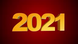 High quality 2021 New Year animation.