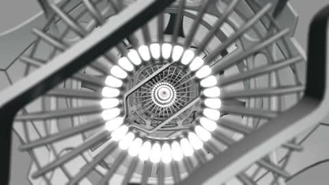 vidéos et rushes de tunnel de scifi futuriste de haute qualité - tunnel de néon 3d rendent le fond abstrait - boucle transparente - sans fin - moving image