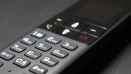 High quality made landline phone with modern design 4K