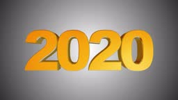 High quality set New Year animation. Text 2020 switches to 2021.