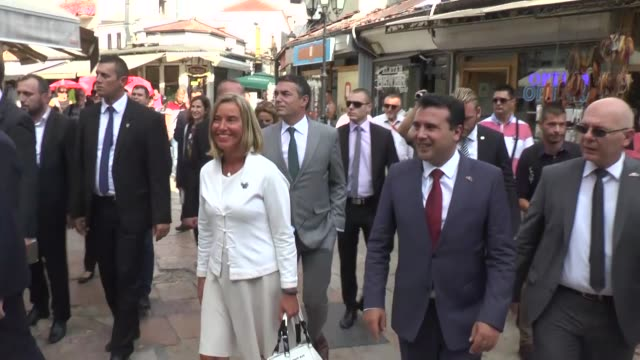 High Representative of the European Union for Foreign Affairs and Security Policy Federica Mogherini and Macedonian Prime Minister Zoran Zaev visit...