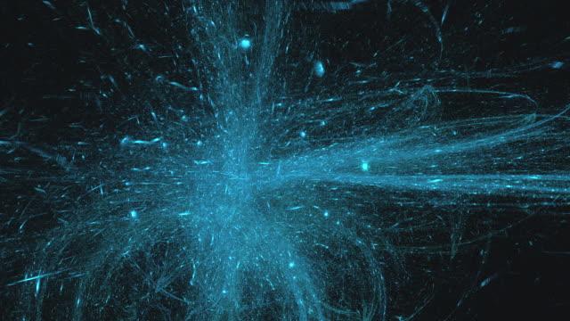 video astratto ad alta risoluzione composto da motivi frattali blu e verdi. - mischiare video stock e b–roll