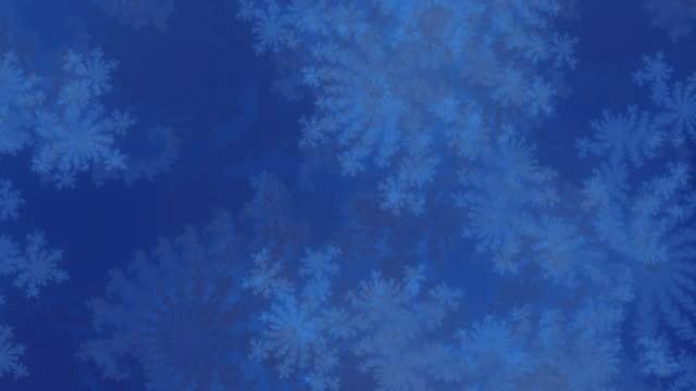 video frattale blu e grigio ad alta risoluzione, che movimenti e motivi ricordano a quelli di una tempesta di neve. - mischiare video stock e b–roll