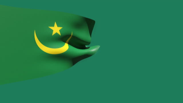 high resolution video of a 3d rendered mauritania flag, moving on a green background. - westernisation stock videos & royalty-free footage