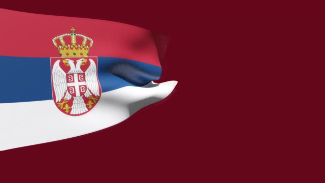 high resolution video of a 3d rendered serbia flag, moving on a red background. - westernisation stock videos & royalty-free footage