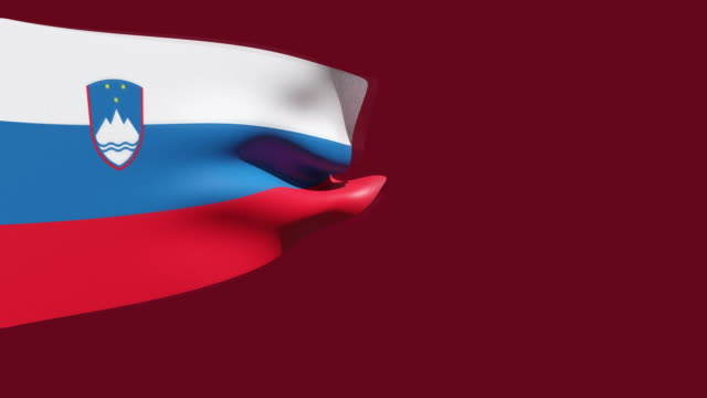 high resolution video of a 3d rendered slovenia flag, moving on a red background. - westernisation stock videos & royalty-free footage