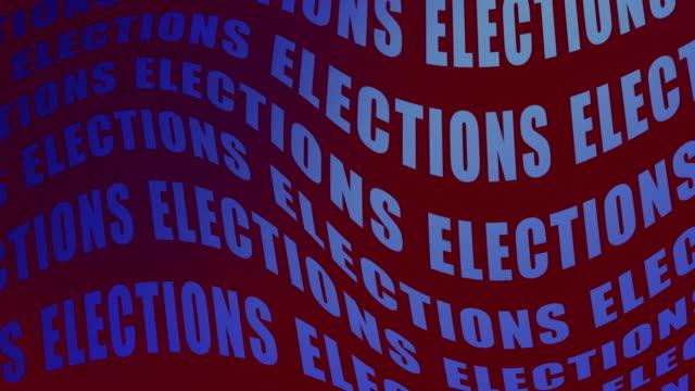 赤い背景に繰り返し手を振る選挙という言葉の高解像度ビデオ。 - 連邦議会議員点の映像素材/bロール