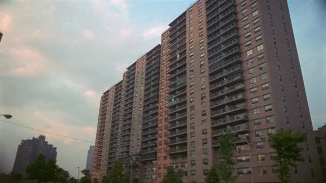 1969 ws high rise apartment block/ brooklyn, new york, usa - brooklyn new york stock videos & royalty-free footage