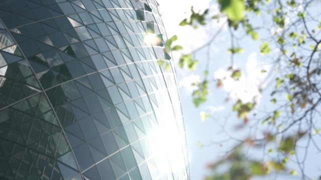 london uk high rise office space 30 st mary axe in the city of london on august 02 on august 02 2020 in london england the future of offices in the... - sir norman foster building stock videos & royalty-free footage