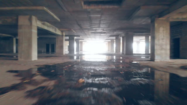 high rise offices, apartment or shopping mall under construction - concrete wall stock videos & royalty-free footage