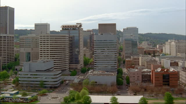 high rises fill the skyline of portland oregon. - portland oregon stock videos & royalty-free footage