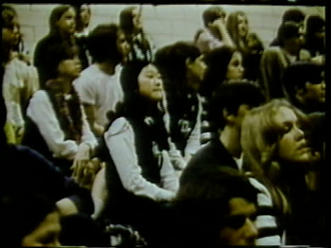 1972 montage high school basketball game, arlington, virginia, usa / audio - cheerleader stock videos & royalty-free footage