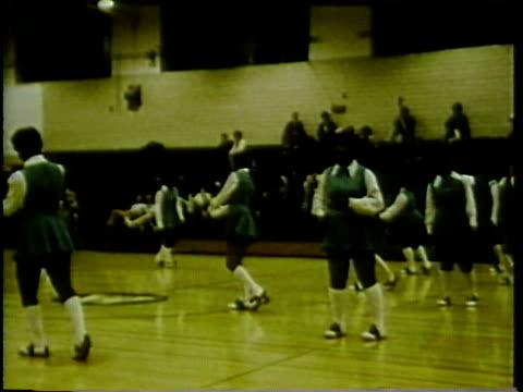 1972 MONTAGE High school basketball game, Arlington, Virginia, USA / AUDIO