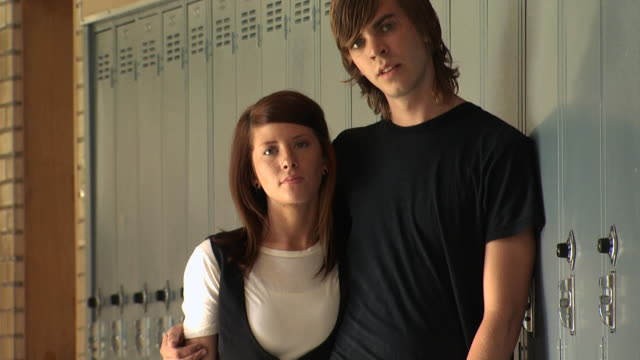 high school couple - see other clips from this shoot 1148 stock videos & royalty-free footage