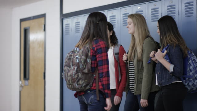 high school girls bullying another student at school - bullying stock videos & royalty-free footage