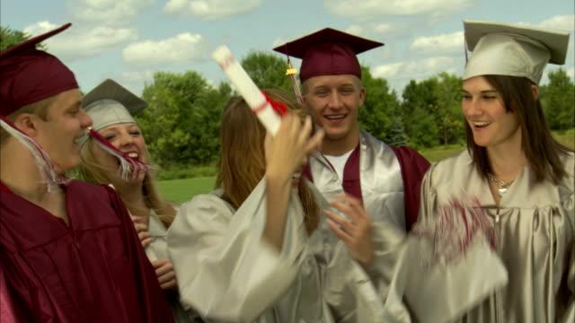 ms high school graduates having fun / appleton, wisconsin, usa - appleton video stock e b–roll