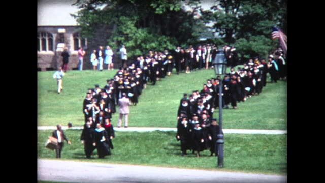 1974 high school graduation - graduation stock videos & royalty-free footage