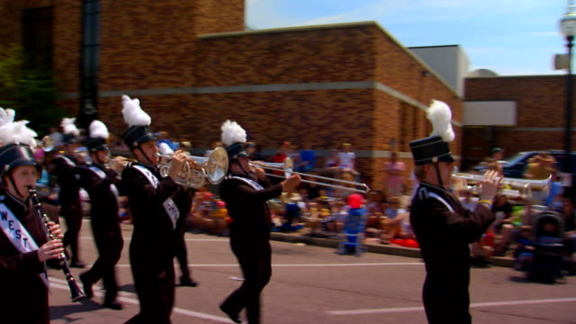 high school marching band, pan - marching band stock videos & royalty-free footage