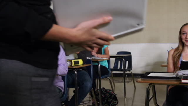 high school students learning in a classroom. - daydreaming stock videos and b-roll footage