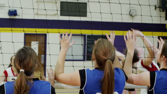 high school volleyball game - sports equipment stock videos & royalty-free footage