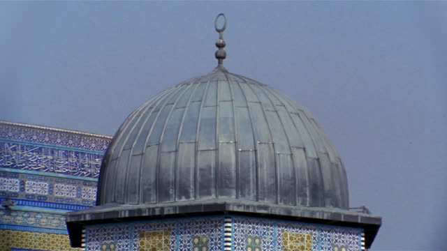 stockvideo's en b-roll-footage met cu, high section of dome of the rock , jerusalem, israel - rotskoepel