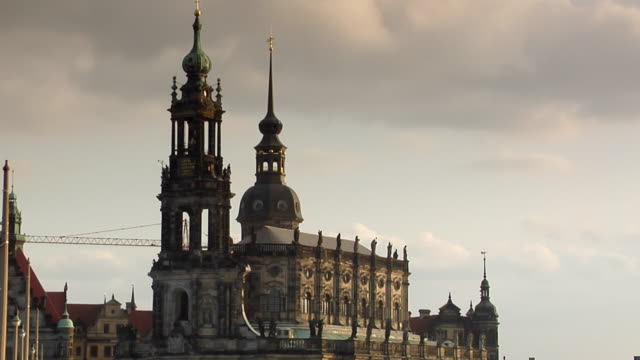 ms, high section of katholische hofkirche, dresden, germany - hofkirche stock videos & royalty-free footage