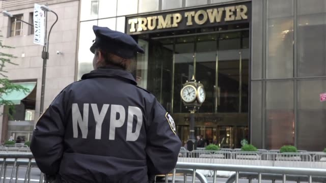 High security is in place around Trump Tower and the nearby Peninsula Hotel with Donald Trump set to meet Australian Prime Minister Malcolm Turnbull...