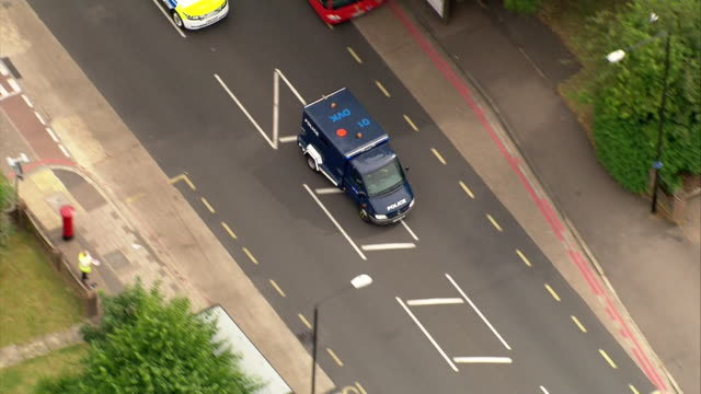 high security police convoy carrying hashem abedi the younger brother of the manchester arena suicide bomber speeds through london as he is... - north africa stock videos & royalty-free footage