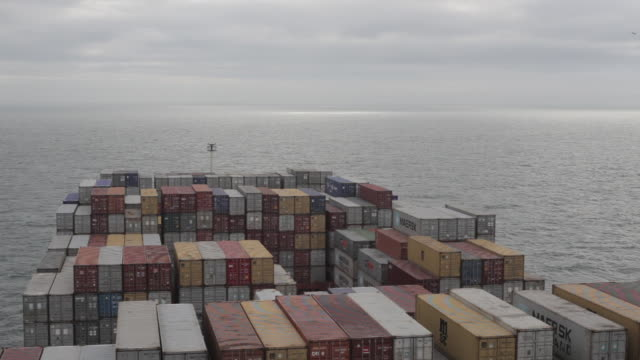 high shot from a container ship as it travels across the english channel. - english channel stock videos and b-roll footage