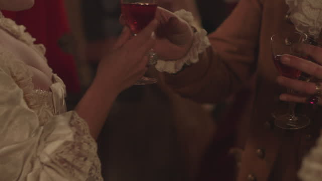 high society social gathering - georgian era reenactment - ジョージア調点の映像素材/bロール