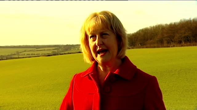 vídeos de stock e filmes b-roll de high speed 2 rail link expected to get go-ahead; buckinghamshire: alison doggett interview sot - have problems with this particular plan - vedação