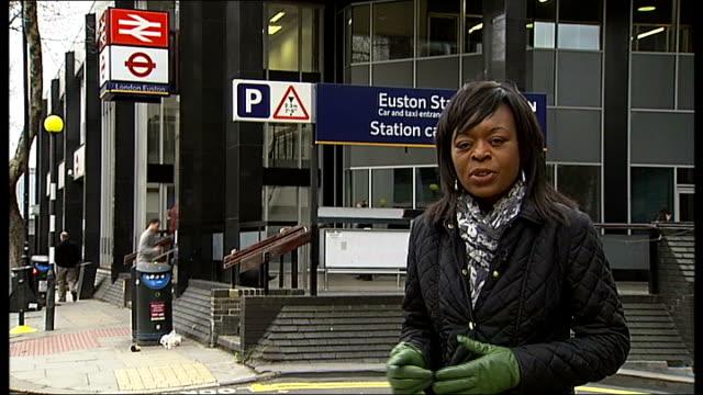 vídeos de stock e filmes b-roll de high speed 2 rail link expected to get go-ahead; buckinghamshire: the chilterns: ext gvs chilterns countryside london: euston station: reporter to... - vedação