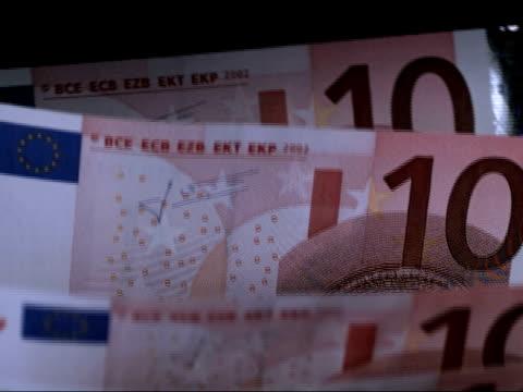 vídeos y material grabado en eventos de stock de high speed banknote counter, 10-euro banknotes - número 10
