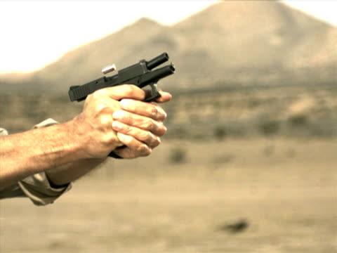 high speed camera - glock 26 - gun barrel stock videos & royalty-free footage