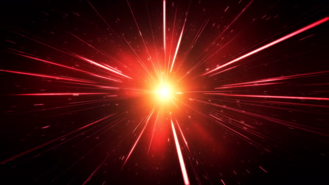 high speed / light speed / space animation (red) - loop - tunnel stock videos & royalty-free footage