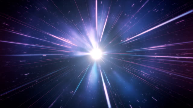 high speed / light speed / space animation (multi colored) - loop - tunnel stock videos & royalty-free footage