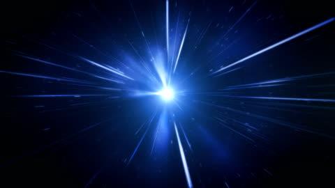 high speed / light speed / space animation (blue) - loop - luminosity stock videos & royalty-free footage