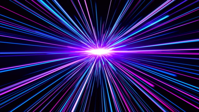 vídeos de stock e filmes b-roll de high speed lights tunnel motion trails - light trail