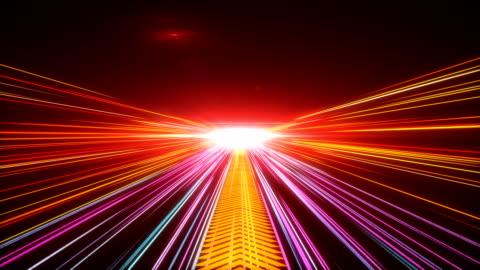 high-speed leuchtet tunnel bewegung wanderwege - speed stock-videos und b-roll-filmmaterial