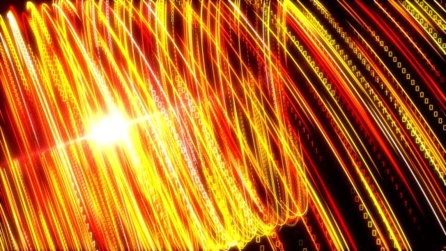 vídeos de stock e filmes b-roll de high speed lights tunnel motion trails - velocidade alta