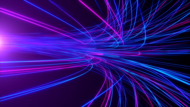 high speed lights tunnel motion trails - neon colored stock videos & royalty-free footage